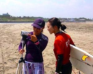 サーフィンスクールビデオチェック
